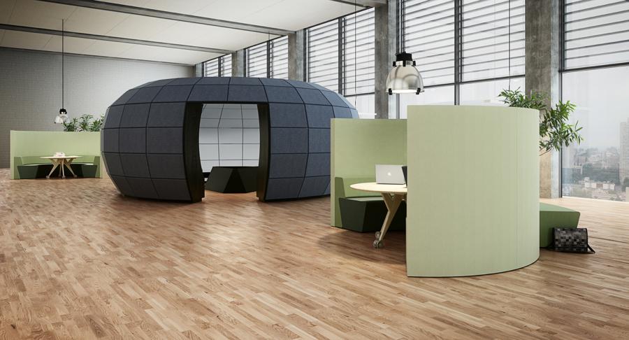 Swing. Rum-i rum. Dansk kontorsdesign, Spaces by Homris