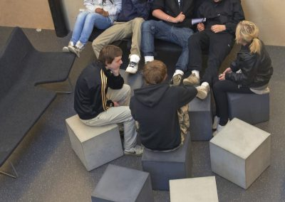 Betongmöbler i offentligt miljö