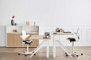Cabale vit vit hoj sankbar dansk design skrivbord